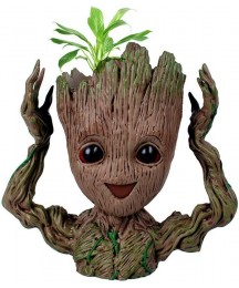 6.3'' Guardians of The Galaxy Baby Groot Flowerpot Pen Holder or Flower Pot with Drainage Hole Perfect for a Tiny Succulents Plants Adorable Ideas