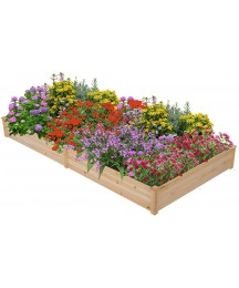 2-Plot Flowers Support Raised Pallet Heavy-Duty Stable Durable Natural Solid Wood Patio Lawn Garden Gardening Care Pots Container Accessories Raised Beds Grow Bags Garden Kits Planters