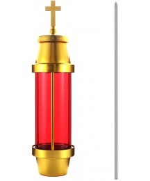 Ourmemo Cemetery Light by Eternal Light Dome Memorial Light with Ground Stake Anodized Aluminum Vigil Light Red