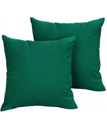 1101Design Sunbrella Forest Green Knife Edge Decorative Indoor/Outdoor Square Throw Pillows, Perfect for Patio Décor, (Forest Green 20