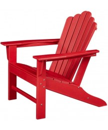 Ehomexpert Classic Outdoor Adirondack Chair for Garden Porch Patio Deck Backyard, Weather Resistant Accent Furniture, Red
