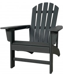 Adirondack Chair Outdoor,Summerville HDPE Plastic Fire Pit Chairs All Weather Resistant Patio Seating Lawn Chairs for Garden,Beach,Backyard,Porch 1 Set Grey