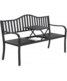 Metal Garden Bench Park Bench Bench Chair Outdoor Benches Clearance Patio Bench Yard Bench Porch Work Entryway Steel Frame Furniture