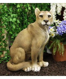 Ebros Large Realistic Lifelike Mountain Lion Cougar Sitting in Repose Statue 20
