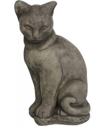 Big Siamese Concrete Cat Statue Large Cement Kitty Sculpture for Indoor and Outdoor Garden Decor