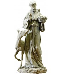 Joseph's Studio by Roman - St. Francis Statue, 25.5H, Garden Collection, Resin and Stone, Decorative, Religious Gift, Home Outdoor and Indoor Decor, Durable, Long Lasting