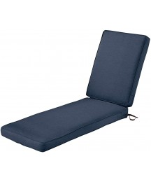 Classic Accessories Montlake Water-Resistant 74 x 23 x 3 Inch Patio Chaise Lounge Cushion, Heather Indigo