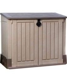 30 Cu. FT Outdoor Lawn Deck Storage Box Storage Bin Garden Shed Lightweight Design Ideal For Storing Beach Towels Sporting Equipment Patio Furniture Cushions Outdoor Trash Containers Weather Resistant