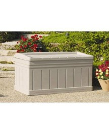 129 Gallon Resin Storage Seat Deck Box, 17.2 Cubic Feet Capacity, Stores Cushions and Accessories, Removable Storage Tray, Sturdy and Long Lasting Heavy-Duty Resin Construction, Light Taupe Finish