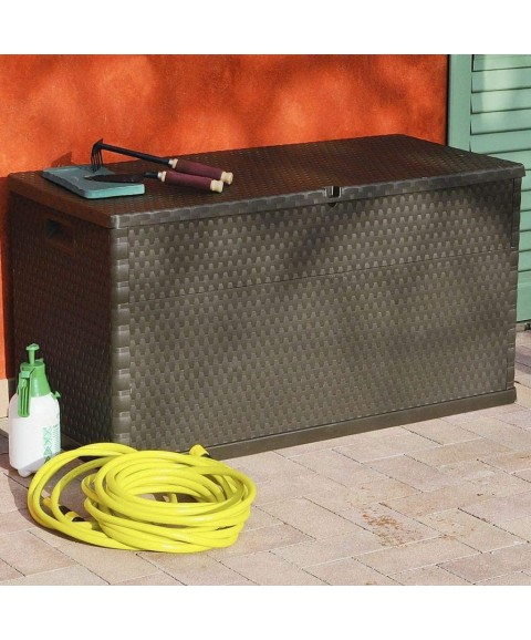 111 Gallon Large Deck Storage Container Box Outdoor Storage for Patio Furniture Garden Tools and Pool Toys Storage