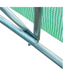 26' X 10' 7' Outdoor Portable Walk-in Tunnel with 12 Ventilating Windows Durable Pe Materials Green Fabric Metal