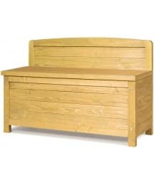 """16.5 Gallon Wood Storage Bench Deck Box Outdoor Seating Storage Container 35.5"""""""